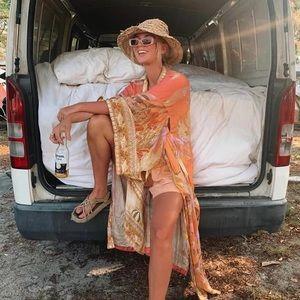 Gypsy Under The Sea Coral Kimono